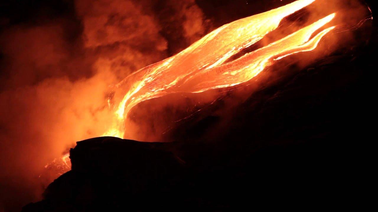 Hawaii - Kilauea   Les Coul U00e9es De Lave  Lava Flows