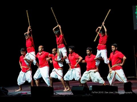 Silambam performance in Fetna 2015 by California Academy of Silambam