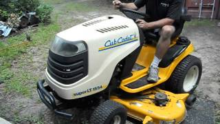 cub cadet 1554 start up after removing the fuel tank to clean