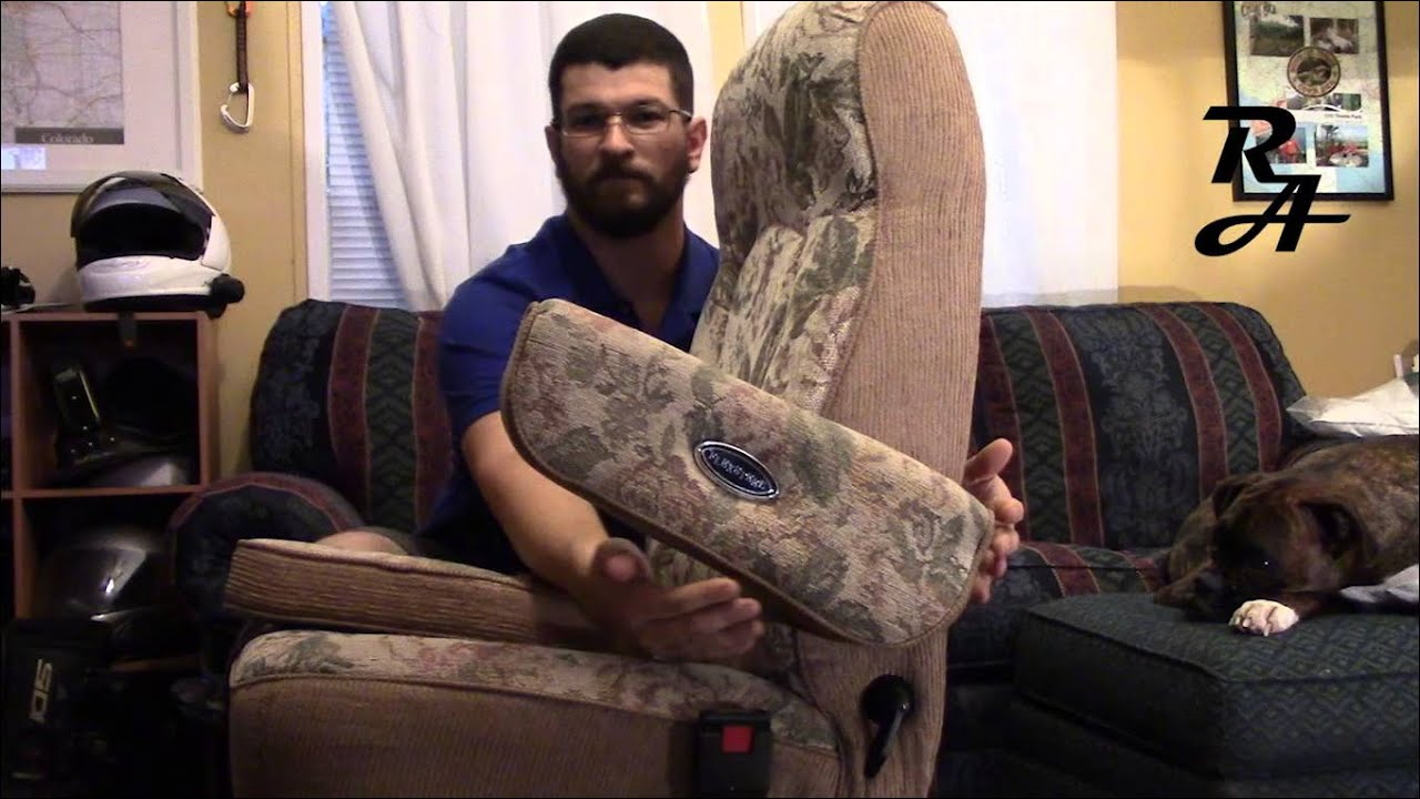 Flexsteel Captains Chair Arm Rest Removal  YouTube