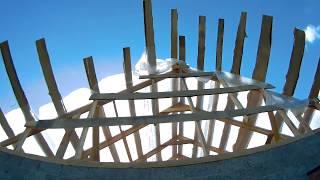 Дом под заказ #4. Стропила, изоспан, обрешетка. Начали делать крышу.