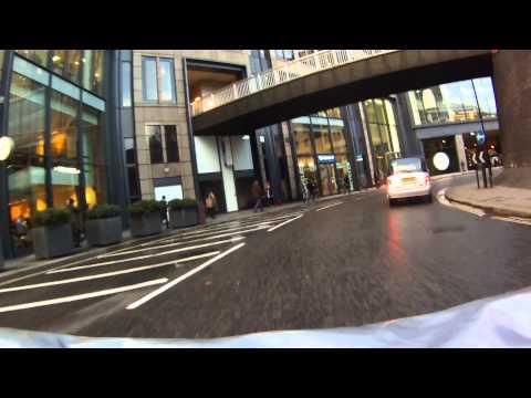 City Of London Museum of London roundabout January 2015