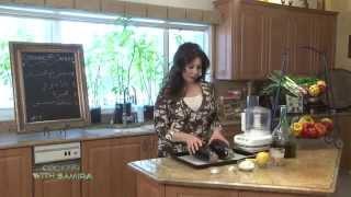 Cooking With Samira # 119 Baba Ghanoug, Lentil Salad, Herb Bread