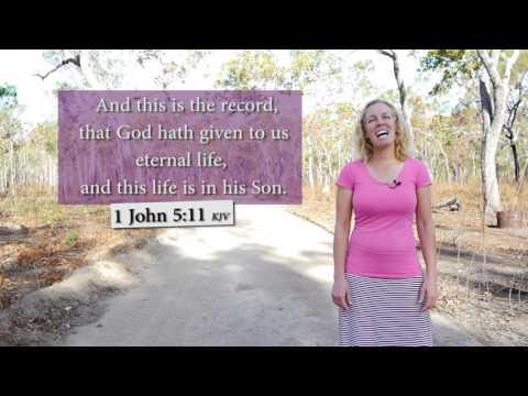 1 John 5:11 KJV - Eternal life in His Son - Musical Memory Verse