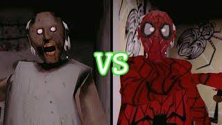 Granny vs Spiderman Granny
