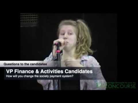 KeeleSU Candidate Question Time 2014 - VP (Finance & Activities)