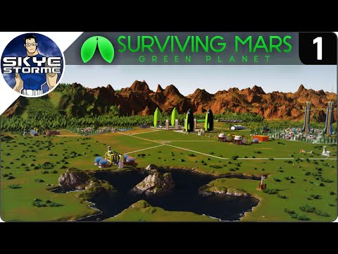 Surviving Mars Green Planet EP 1 - SUPER FAST STARTING STRATEGY - Tips & Tricks!