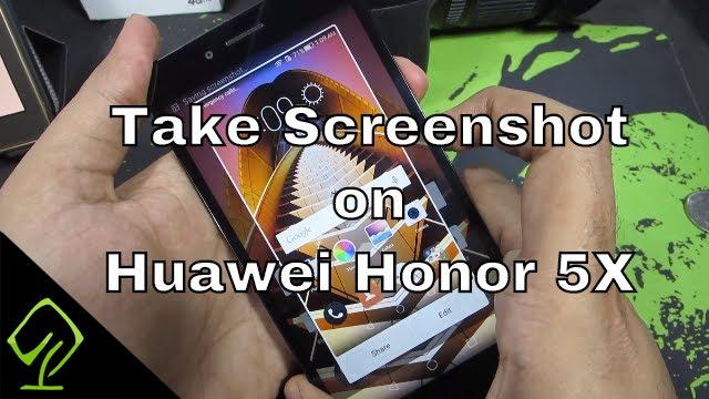 how to take screenshot on huawei