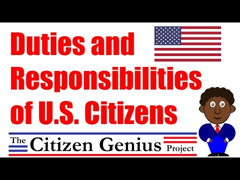 Duties and Responsibilities of U.S. Citizens