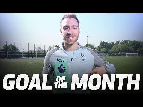 CHRISTIAN ERIKSEN WINS GOAL OF THE MONTH