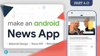 News Detail 📄 (RecyclerView ItemClick & Collapsing Toolbar) - Android News App Tutorial #4