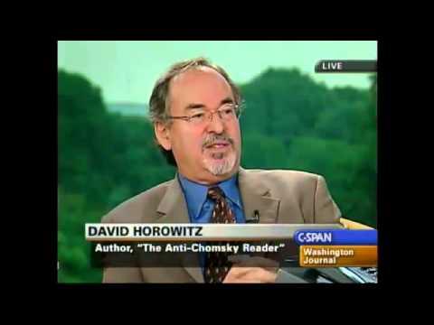 "David Horowitz slamming Noam Chomsky ""Ayatollah of Anti-American Hate"""