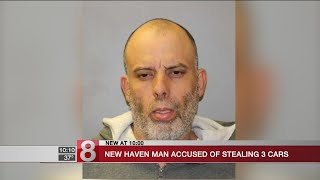 New Haven man accused of stealing 3 cars