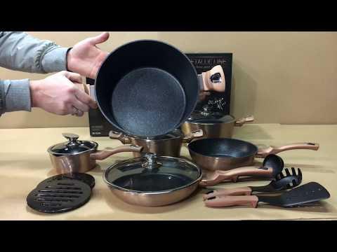 Набор посуды Berlinger Haus Copper Metallic Line 15 предметов BH-1224N
