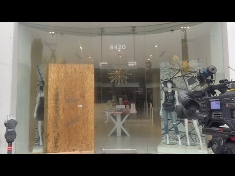The Kardashian's Dash Store Boarded Up After Hit By Arsonist