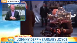 Depp Should Pick On Someone His Own Size'  Barnaby Joyce Responds To Actor's Comments