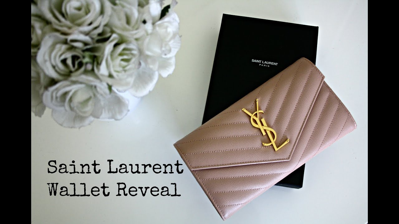 yves saint laurent velvet chain monogram wallet