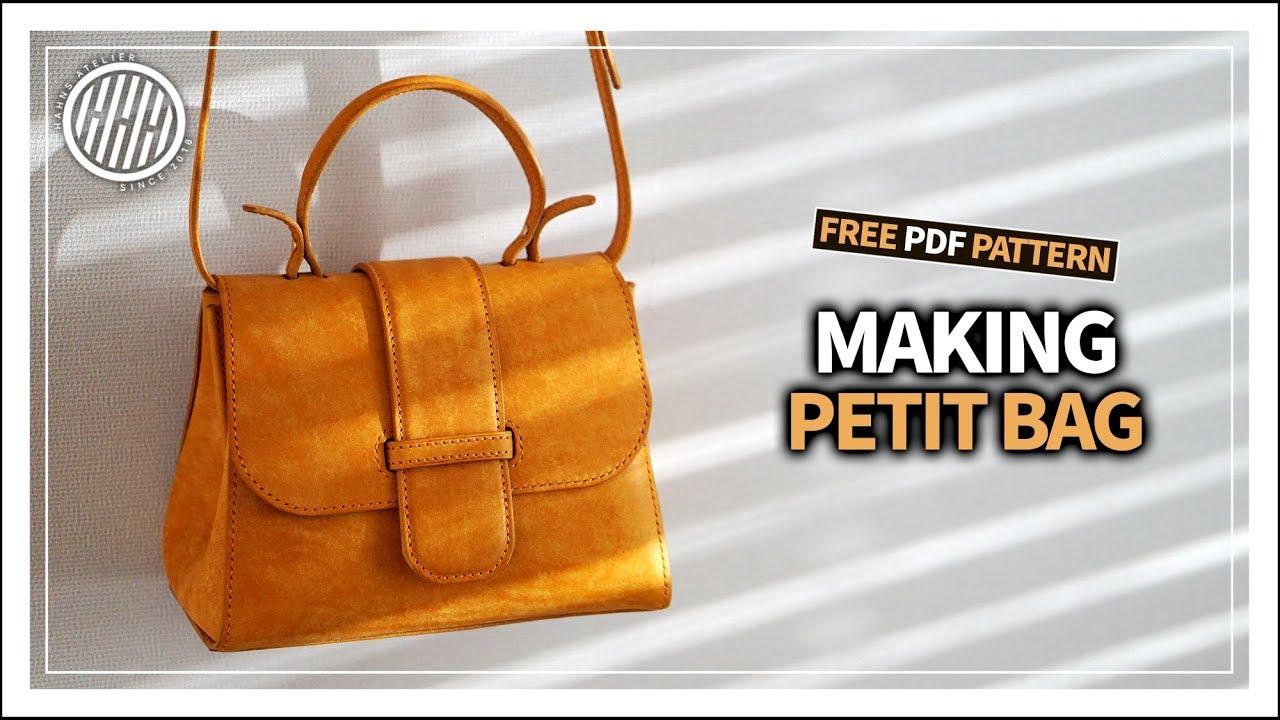 Leather Craft Making Petit Bag Tutorial Free Pattern Youtube