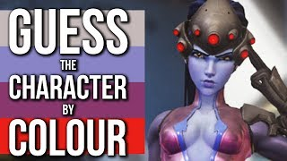 Overwatch Quiz - GUESS the CHARACTER by COLOUR