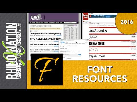 FONTS: finding new fonts, identifying fonts, font management