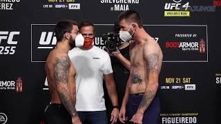 <b>UFC 255</b> official weigh-in