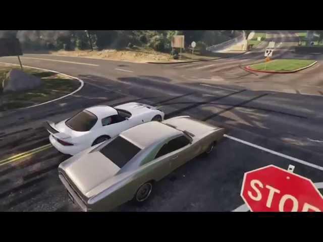 Форсаж 7 в GTA V  концовка