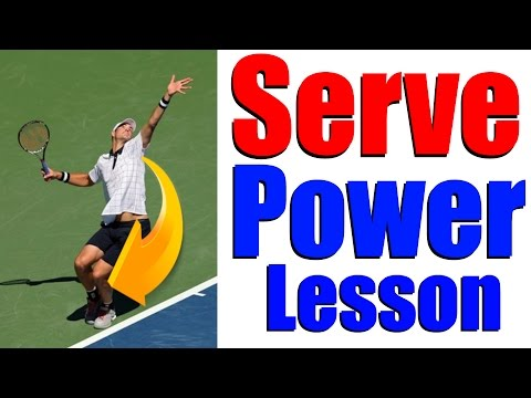 Tennis Serve Lesson - How To Get More Power On Serve with David Nalbandian