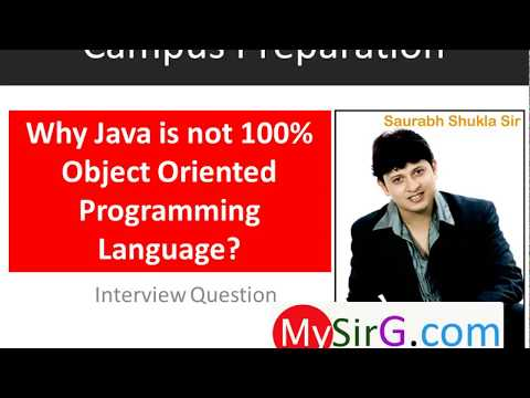 #2 Why Java is not 100% object oriented programming language Hindi