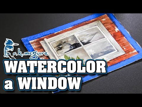 Painting a Rustic Old Barn Window | How to Watercolor Lessons | R K McGuire