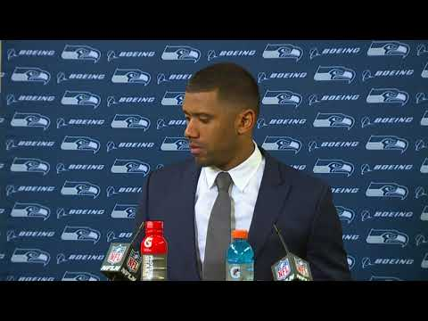 Seahawks Quarterback Russell Wilson at Packers Postgame Press Conference