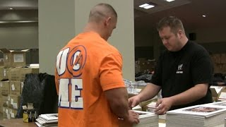 John Cena autographs 3,000 photos for fans, only on WWE Network