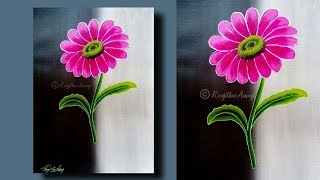 STEP by STEP acrylic painting for beginners    Easy and Simple acrylic painting for beginners