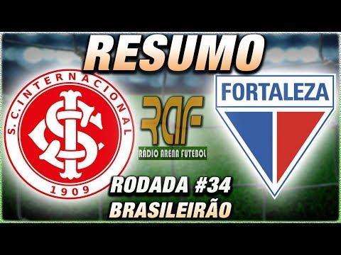 InternacionalSC x FortalezaEC Ao Vivo l Campeonato Brasileiro l 34ª Rodada