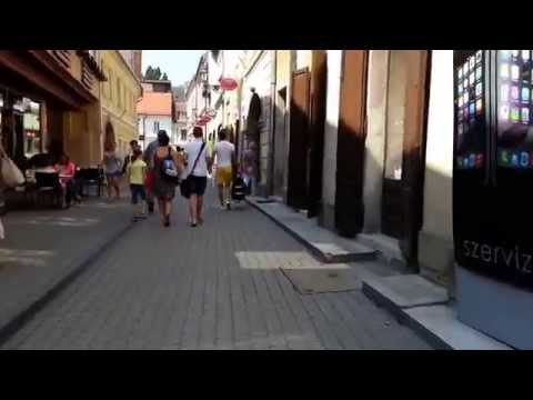 on bicycle in Eger city hungary