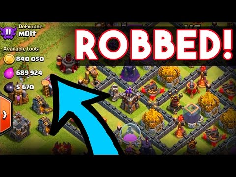 Clash of Clans  - I'VE BEEN ROBBED -  MILLIONS OF MY LOOT STOLEN