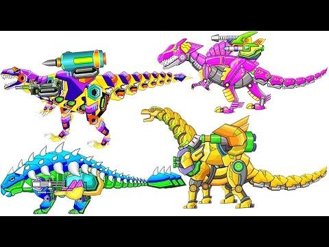 Dinosaur Robot Wars #2: Theropod & Ankylosaurus | Eftsei Gaming