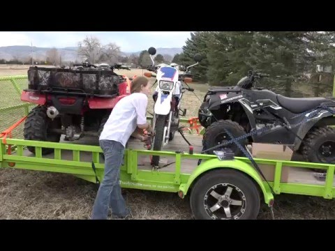 2016 Ford Platinum Explorer Towing ATV trailer using Bolt locks