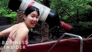 Download Video Japanese spa has hot springs of green tea, wine, and coffee MP3 3GP MP4