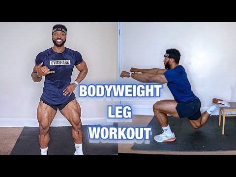 The MOST EFFECTIVE BODYWEIGHT LEG WORKOUT | At HOME | No Equipment