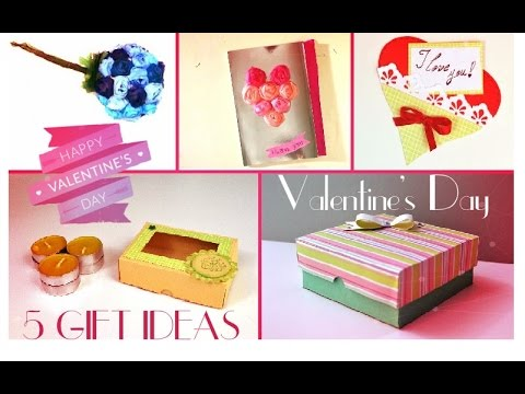 5 Diy Valentine S Day Gifts And Room Decor Ideas Easy Paper Crafts