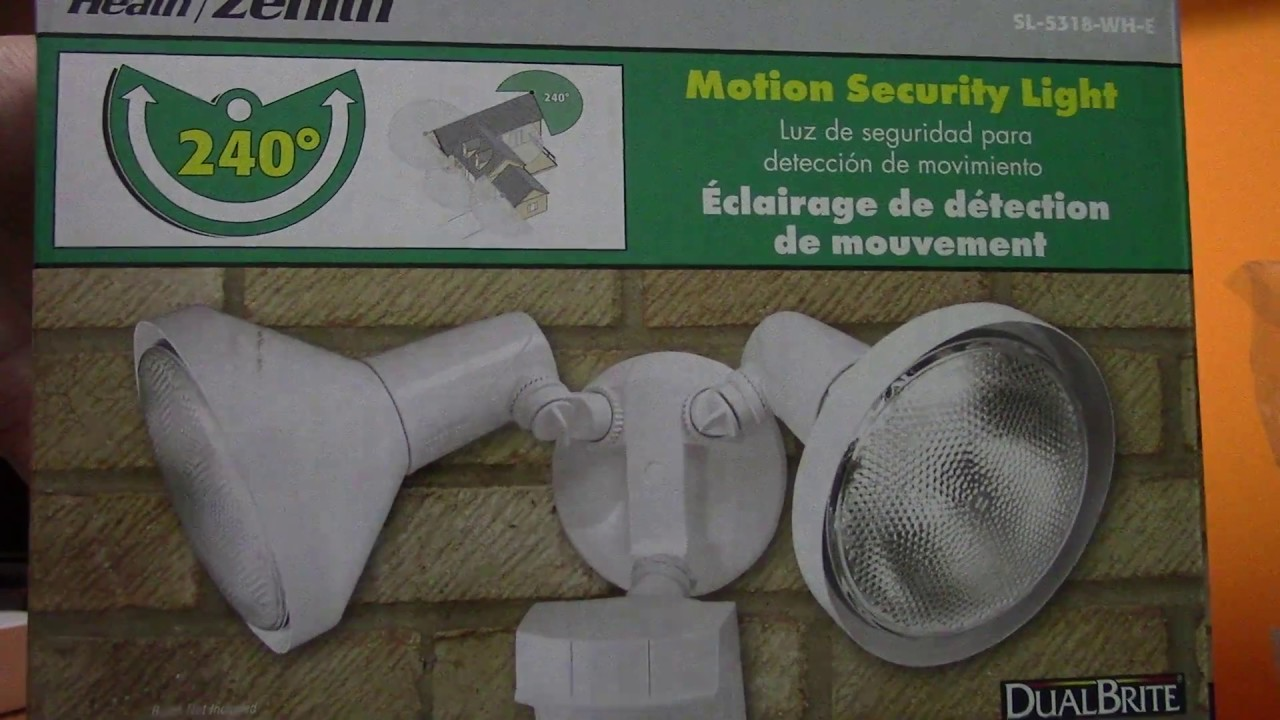 Heath zenith motion security light youtube heath zenith motion security light aloadofball Images