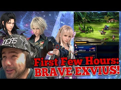 First Few Hours Reaction To - FINAL FANTASY BRAVE EXVIUS - Top notch banter!