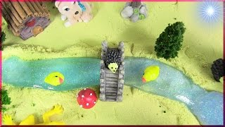 A Peaceful DIY Country Glitter Slime River Fantasy Scene | Miniature Creation |  Slime Asmr