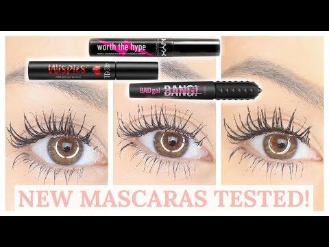 BATTLE OF THE NEW MASCARAS - BENEFIT BAD GAL BANG, NYX WORTH THE HYPE | Beauty's Big Sister