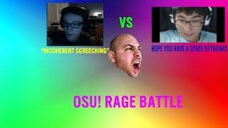 Osu! Rage Battle   ThePoon VS Angelsim