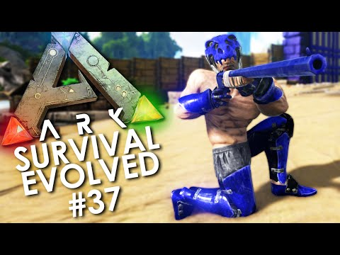ARK: Survival Evolved - Episode 37 | Breaking In our NEW LONGNECK RIFLE!