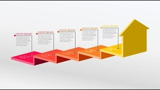 3D step by step stairs process diagram in powerpoint. powerpoint tricks