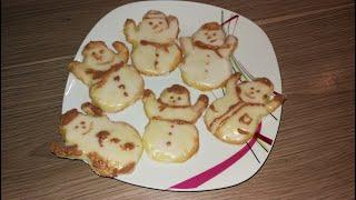 Zitronen-Schneemänner | Weihnachtsbäckerei