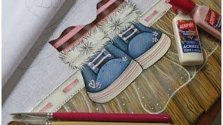 Pintura em tecido – Efeito Pelinhos – Ursinha Fofa parte 2 – Mariana Santos