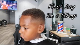 First Day In a Barbershop!!
